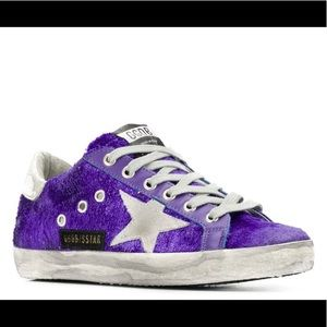 Golden Goose Superstar textured sneakers Purple 37